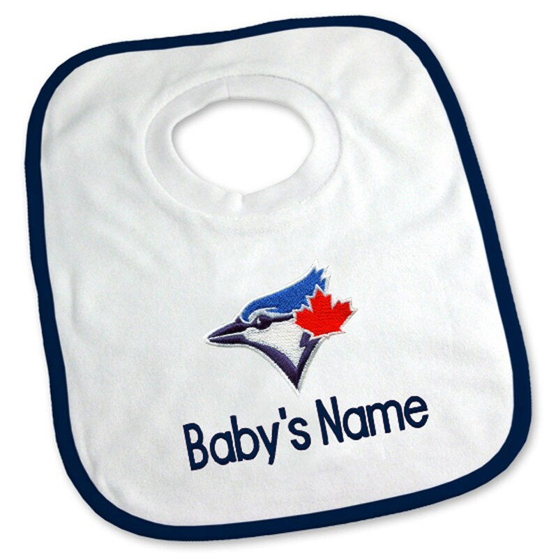 Toronto Blue Jays Newborn & Infant Personalized Bib - White