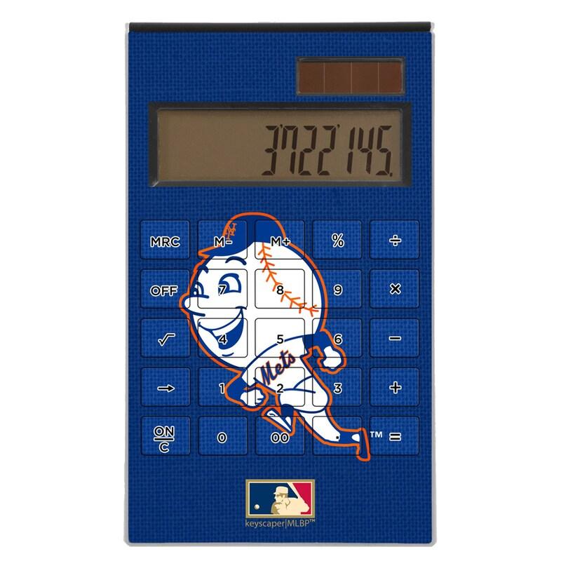 New York Mets 2014 Cooperstown Solid Design Desktop Calculator