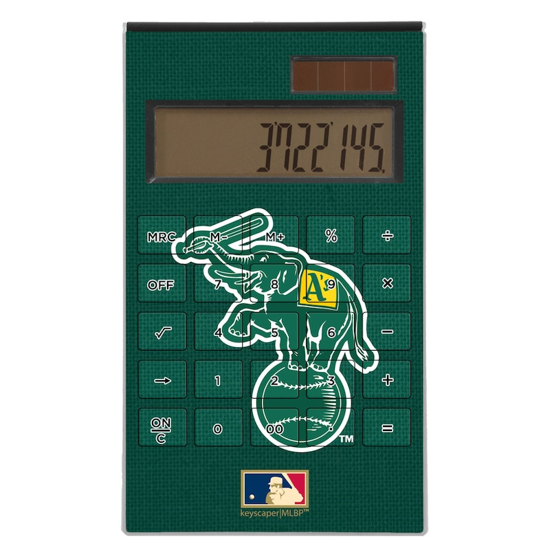 Oakland Athletics 1988 Cooperstown Solid Design Desktop Calculator