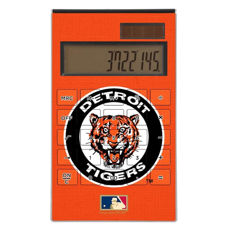 Detroit Tigers 1961-1963 Cooperstown Solid Design Desktop Calculator