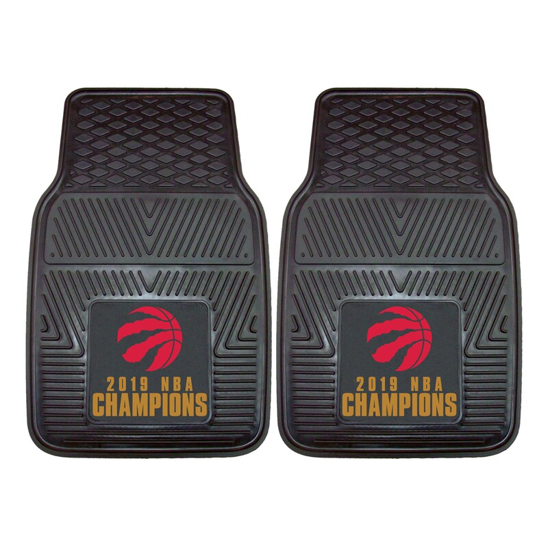 Toronto Raptors 2019 NBA Finals Champions Two-Piece Vinyl Car Mat Set