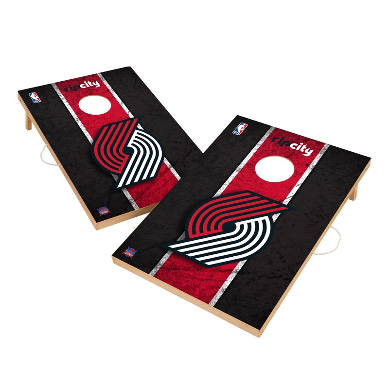 Portland Trail Blazers 2' x 3' Solid Wood Cornhole Board Tailgate Toss Set