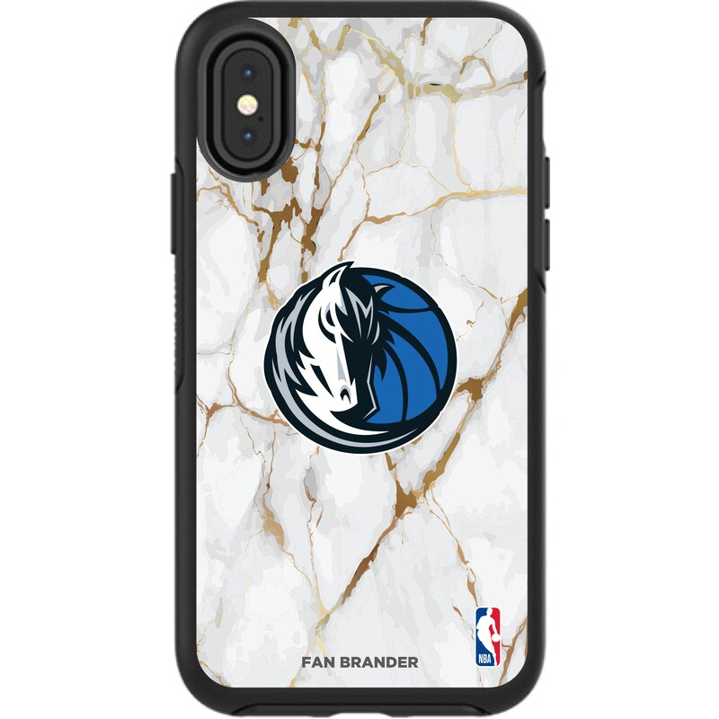 Dallas Mavericks iPhone Symmetry Marble Case - Black