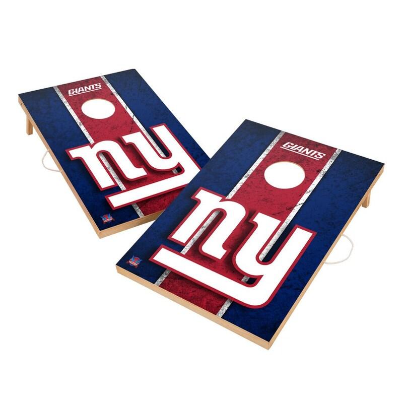 New York Giants 2' x 3' Vintage Cornhole Board Tailgate Toss Set