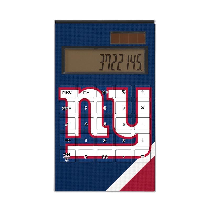 New York Giants Diagonal Stripe Desktop Calculator