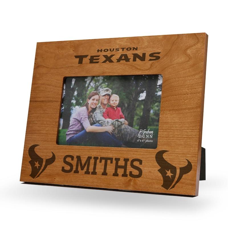 Houston Texans Sparo Engraved Personalized Picture Frame
