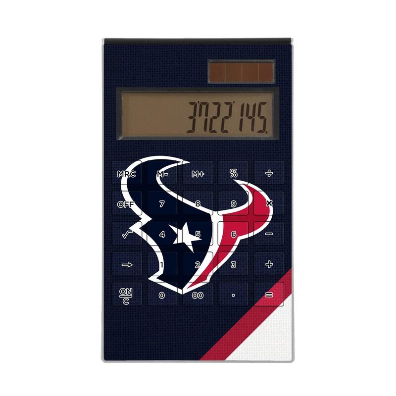Houston Texans Diagonal Stripe Desktop Calculator