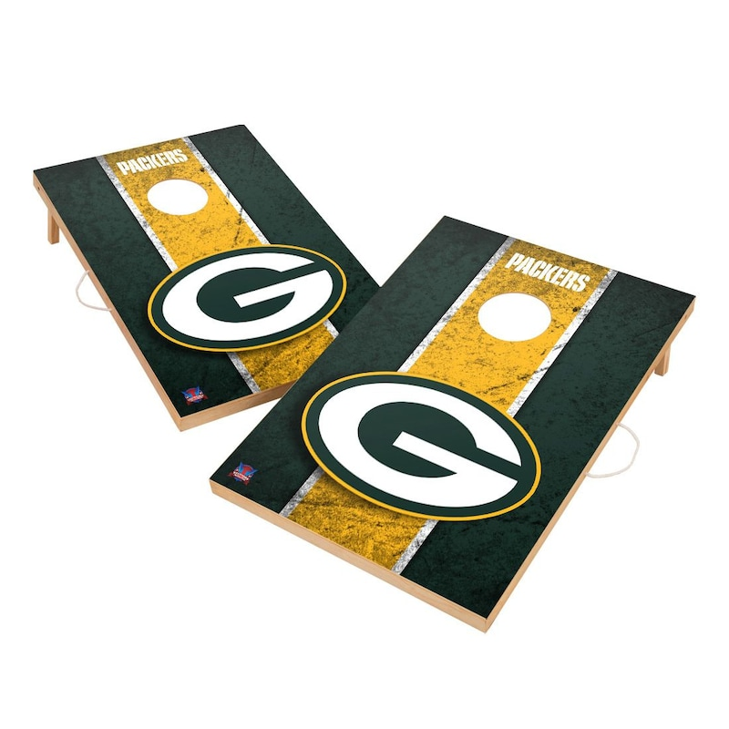 Green Bay Packers 2' x 3' Vintage Cornhole Board Tailgate Toss Set