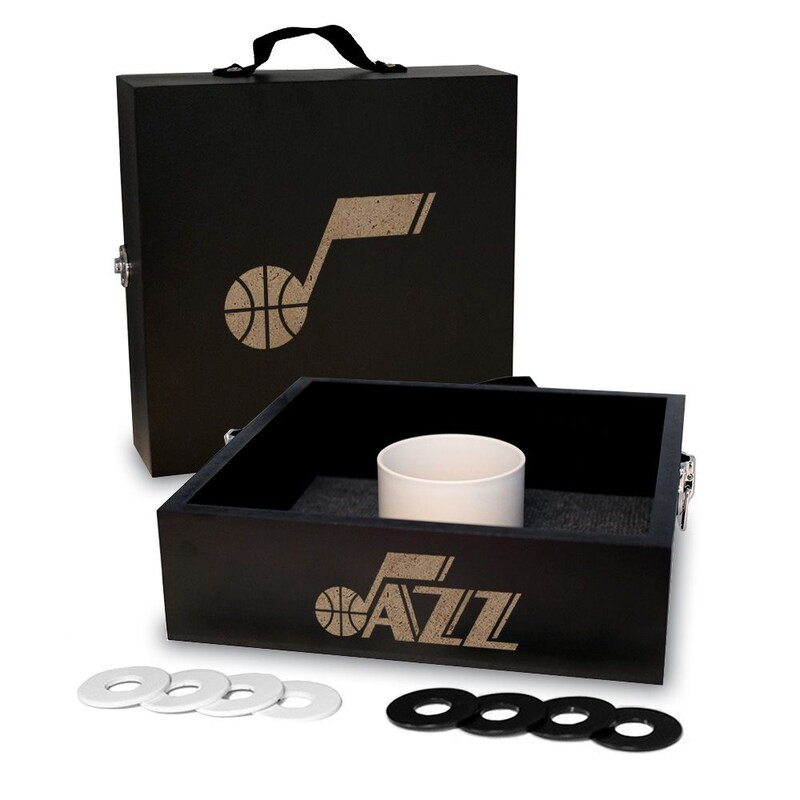 Utah Jazz Onyx Stained Washer Toss Game Set