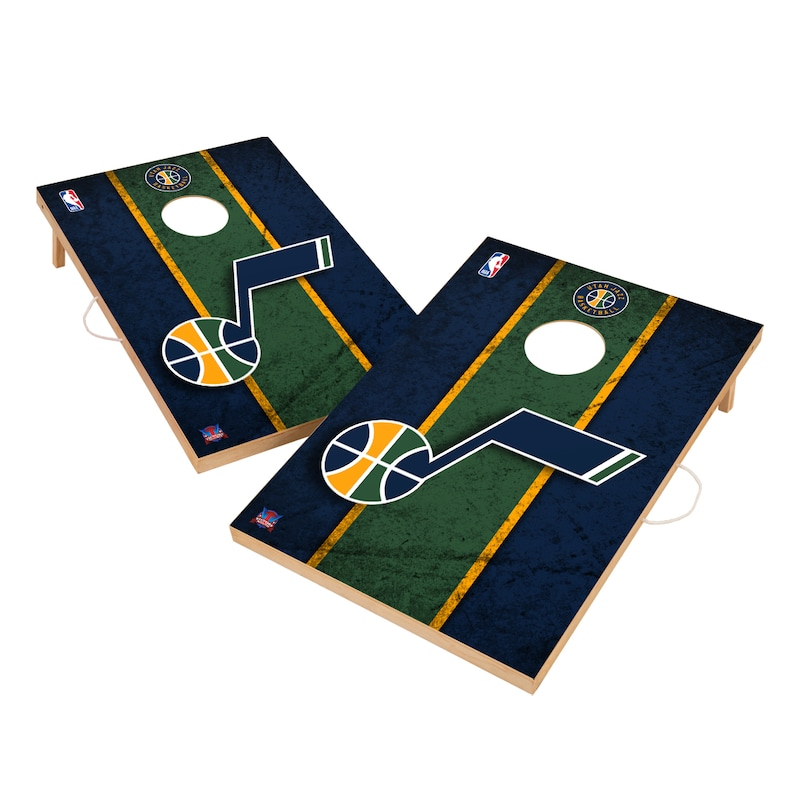 Utah Jazz 2' x 3' Solid Wood Cornhole Board Tailgate Toss Set