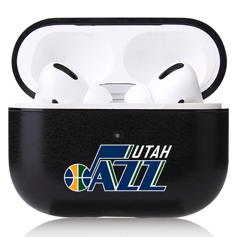 Utah Jazz OtterBox Air Pods Leather Case - Black