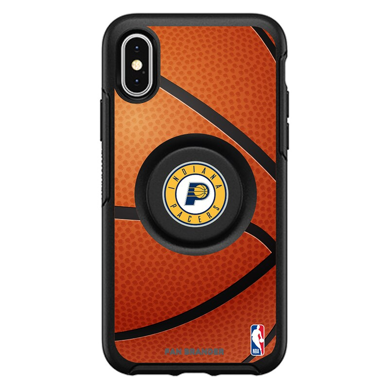 Indiana Pacers OtterBox Primary Otter+Pop PopGrip Symmetry iPhone Case - Black