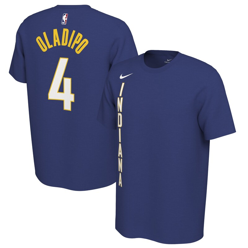 Victor Oladipo Indiana Pacers Nike 2019/20 Earned Edition Name & Number T-Shirt - Royal