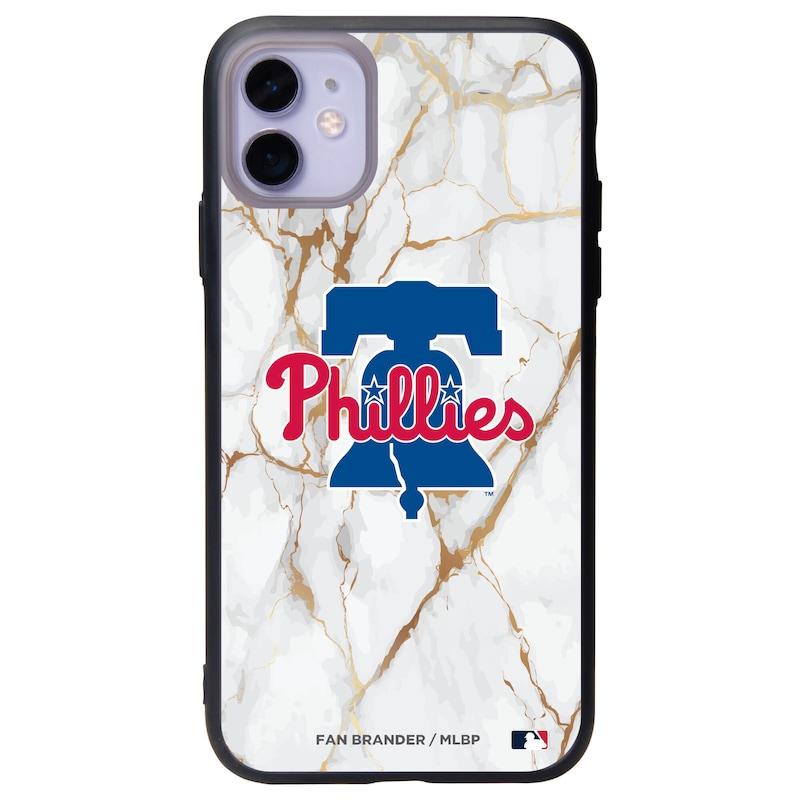 Philadelphia Phillies Black Slate White Marble iPhone Case