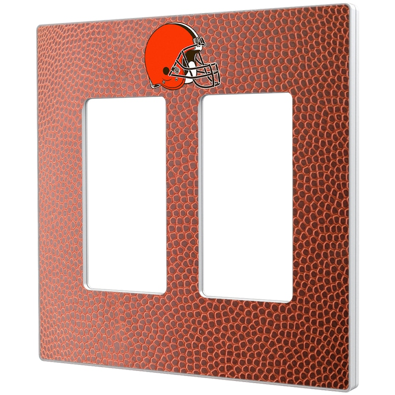 Cleveland Browns Football Design Double Rocker Light Switch Plate