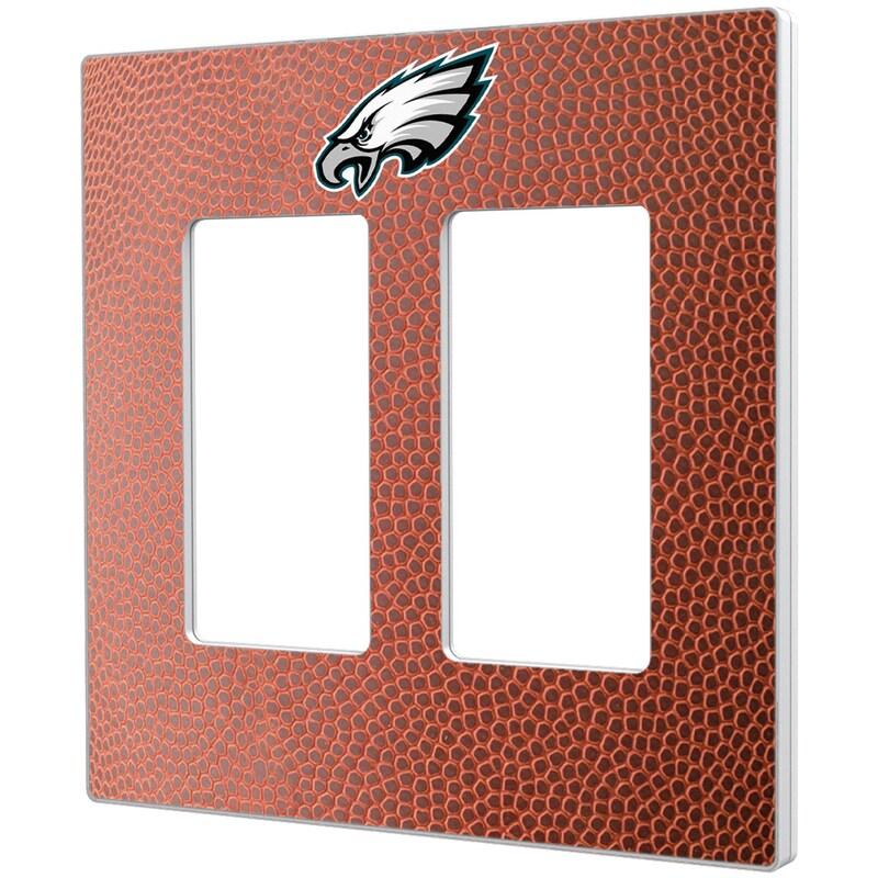 Philadelphia Eagles Football Design Double Rocker Light Switch Plate