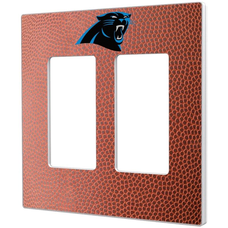 Carolina Panthers Football Design Double Rocker Light Switch Plate