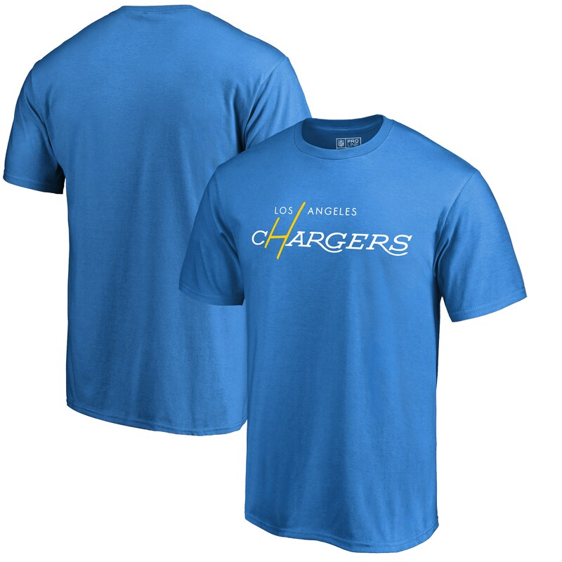 Los Angeles Chargers NFL Pro Line by Fanatics Branded Multi Color Vintage Logo T-Shirt - Powder Blue