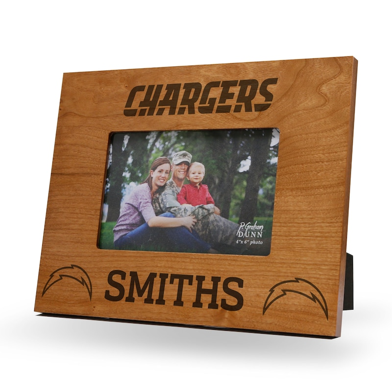 Los Angeles Chargers Sparo Engraved Personalized Picture Frame