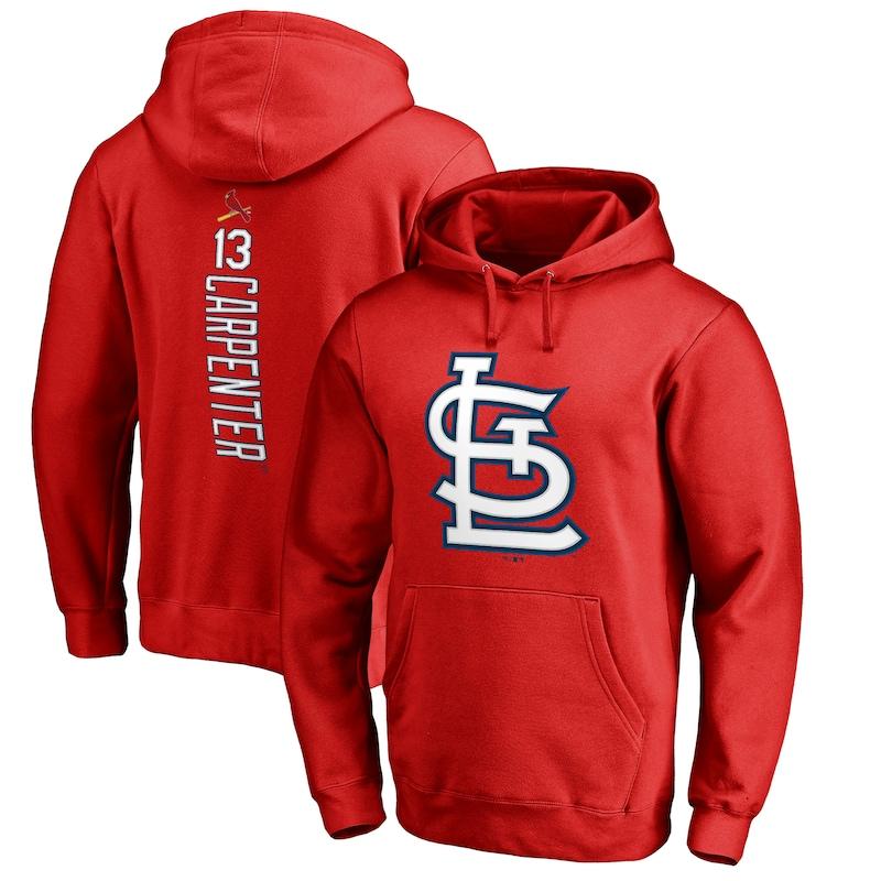 Matt Carpenter St. Louis Cardinals Fanatics Branded Backer Pullover Hoodie - Red