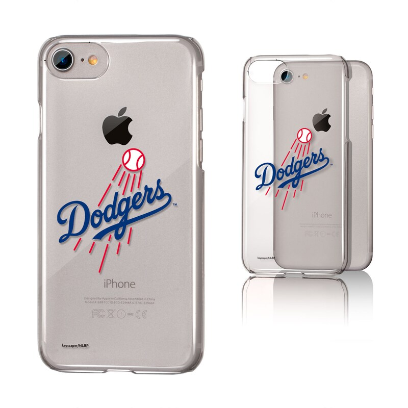 Los Angeles Dodgers iPhone 6/6s/7/8 Team Logo Clear Case