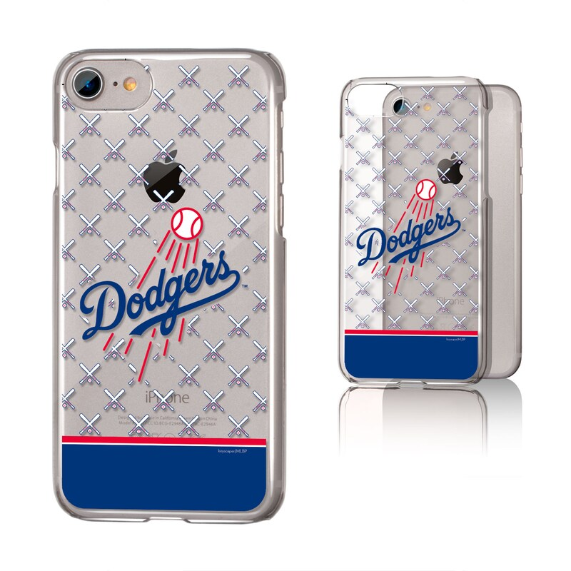 Los Angeles Dodgers iPhone 6/6s/7/8 Logo Stripe Clear Case