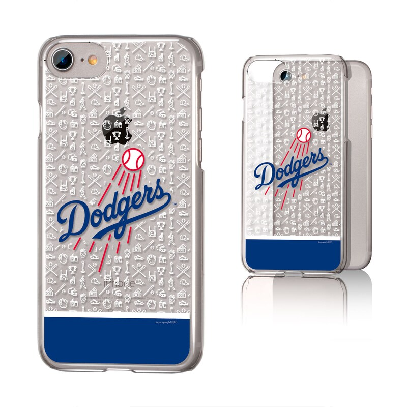Los Angeles Dodgers iPhone 6/6s/7/8 Pattern Stripe Clear Case