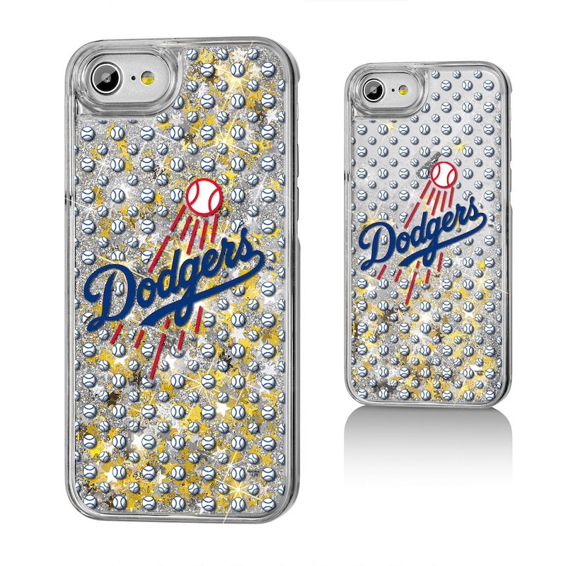 Los Angeles Dodgers iPhone 6/6s/7/8 Logo Gold Glitter Case