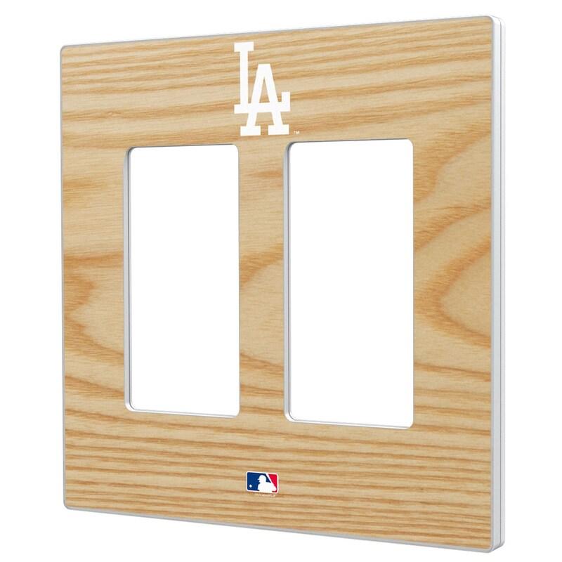 Los Angeles Dodgers Baseball Bat Design Double Rocker Light Switch Plate