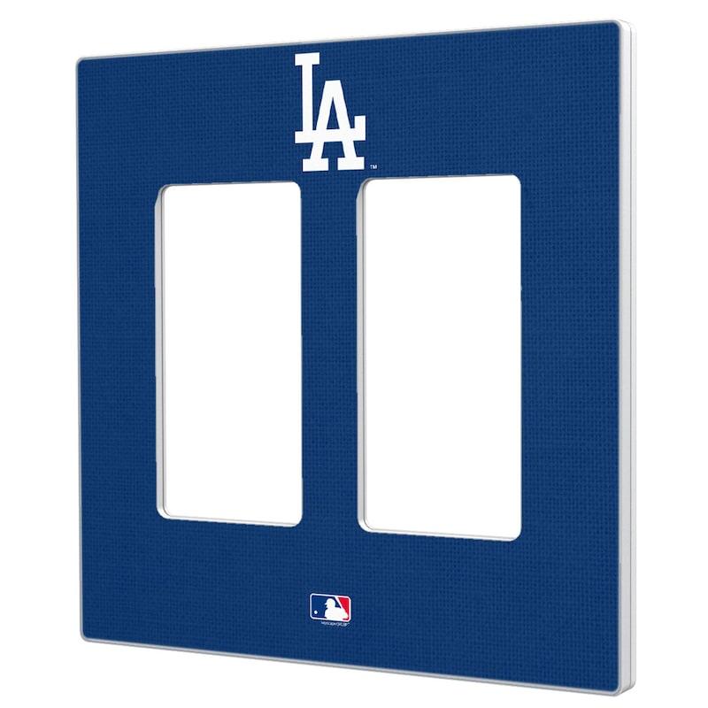 Los Angeles Dodgers Solid Double Rocker Light Switch Plate
