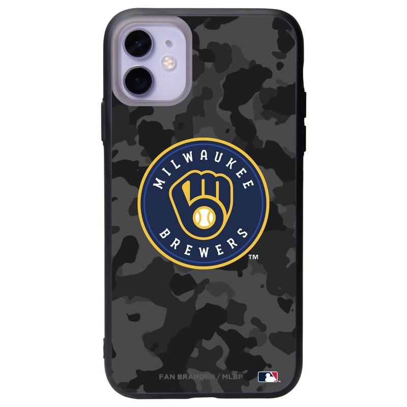 Milwaukee Brewers Black Slate Urban Camo iPhone Case