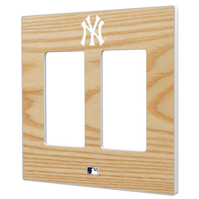 New York Yankees Baseball Bat Design Double Rocker Light Switch Plate