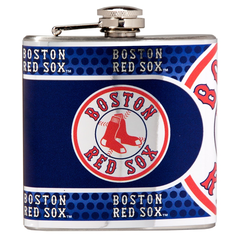 Boston Red Sox 6oz. Stainless Steel Hip Flask - Silver