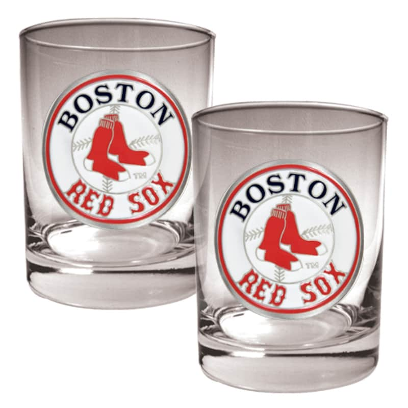 Boston Red Sox 14oz. Rocks Glass Set