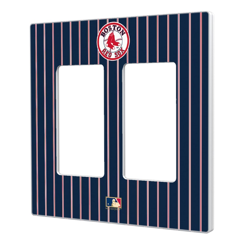 Boston Red Sox 1976-2008 Cooperstown Pinstripe Double Rocker Light Switch Plate