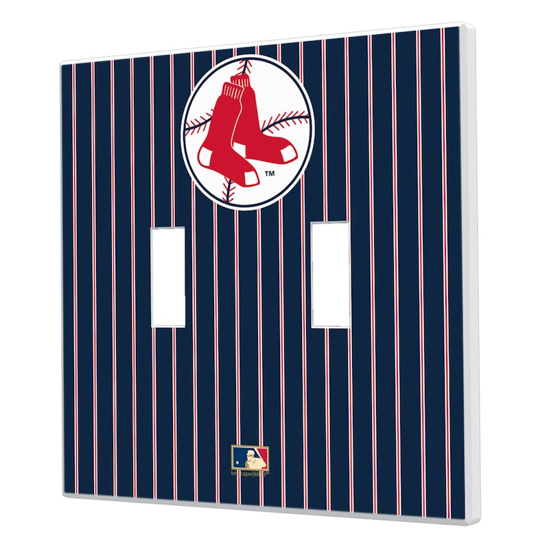 Boston Red Sox 1970-1975 Cooperstown Pinstripe Double Toggle Light Switch Plate