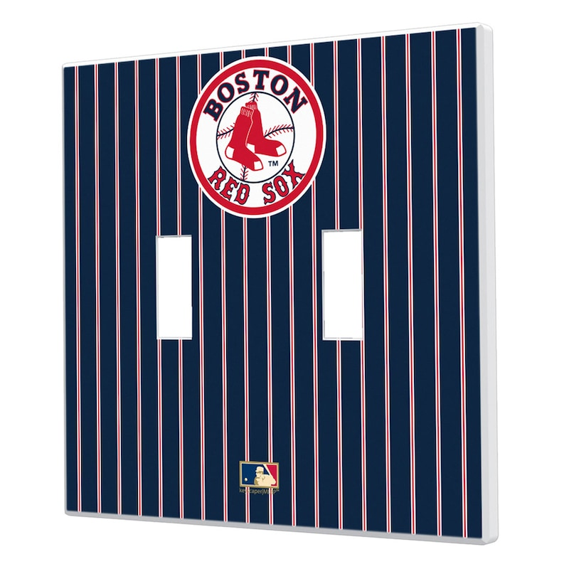 Boston Red Sox 1976-2008 Cooperstown Pinstripe Double Toggle Light Switch Plate