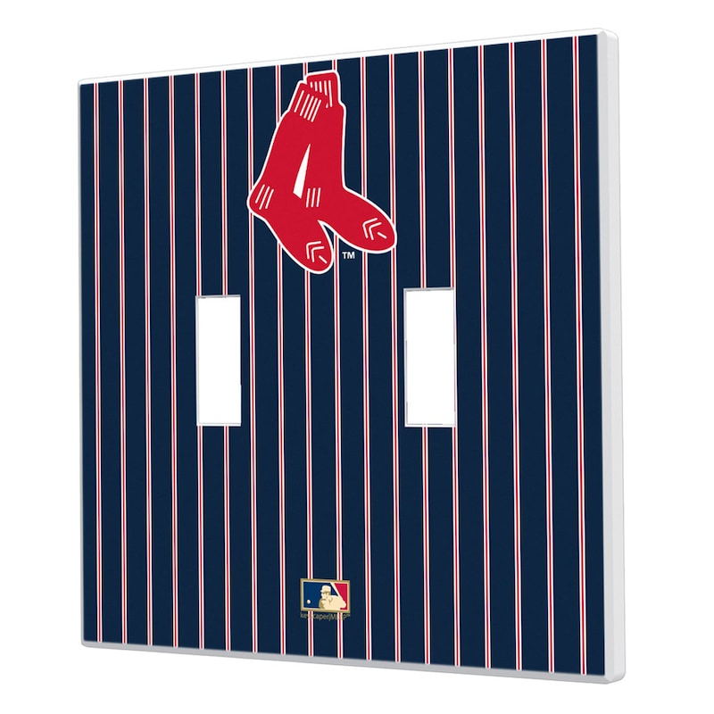 Boston Red Sox 1924-1960 Cooperstown Pinstripe Double Toggle Light Switch Plate