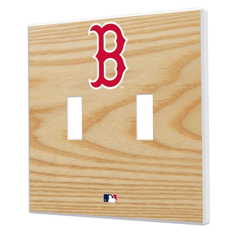 Boston Red Sox Baseball Bat Design Double Toggle Light Switch Plates