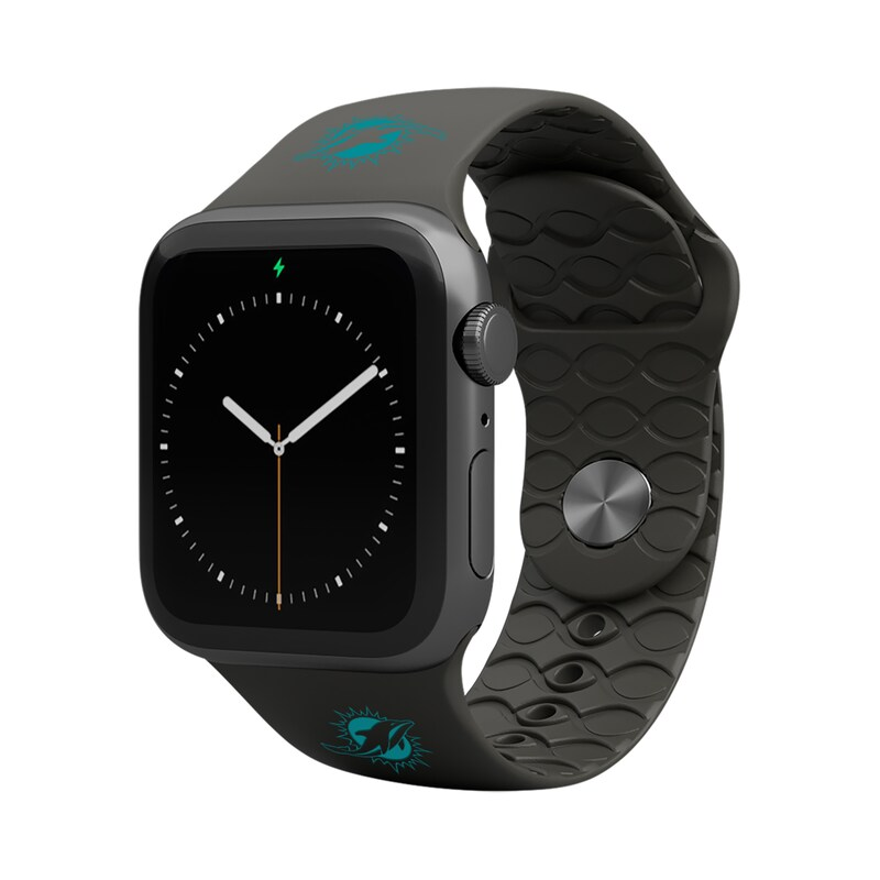 Miami Dolphins Groove Life 42-44mm Apple Watch Band - Black
