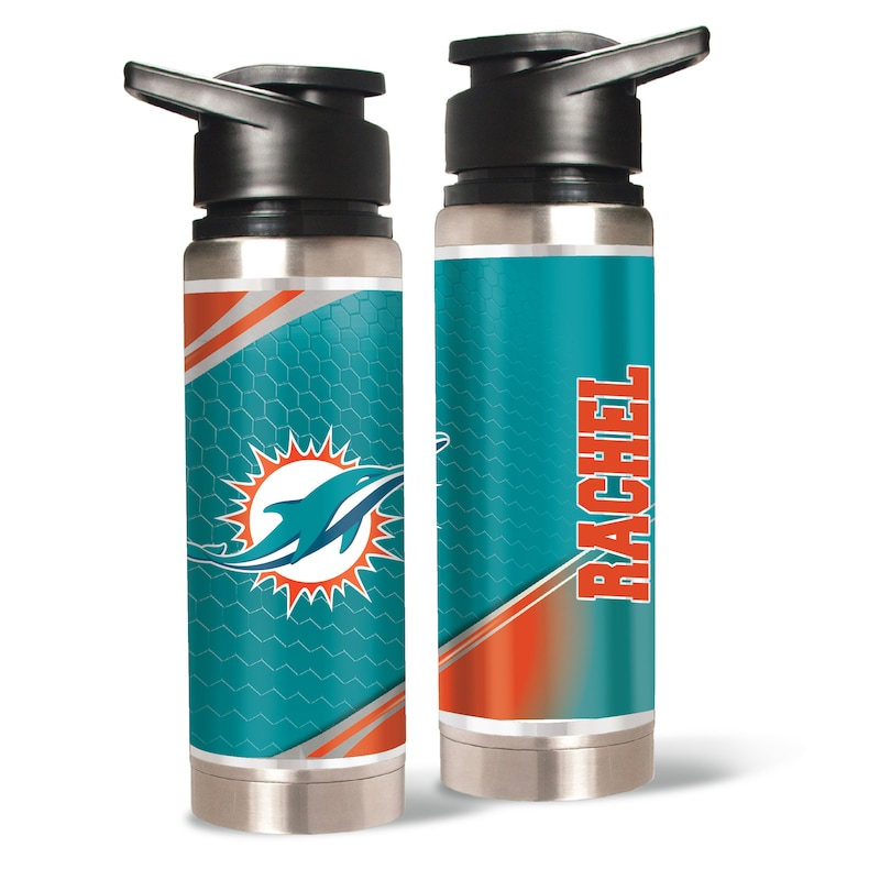 Miami Dolphins 20oz. Personalized Water Bottle