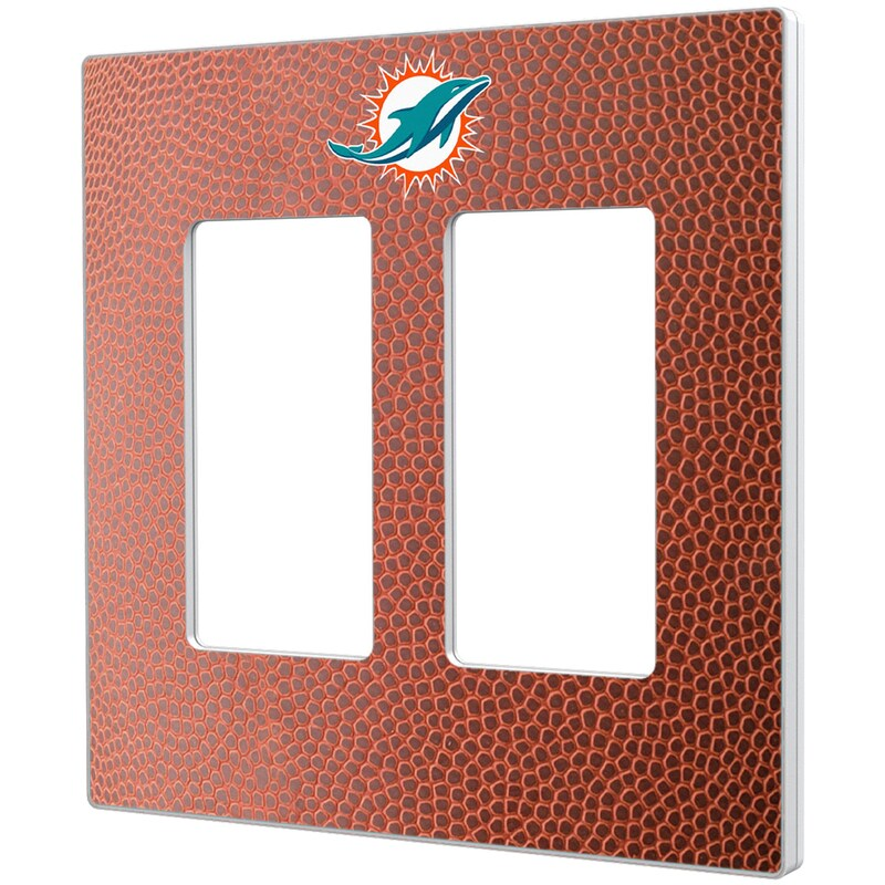 Miami Dolphins Football Design Double Rocker Light Switch Plate