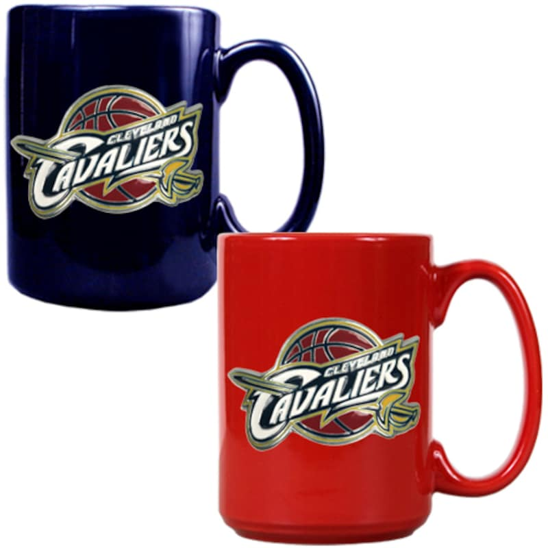Cleveland Cavaliers 15oz. Coffee Mug Set - Navy/Red