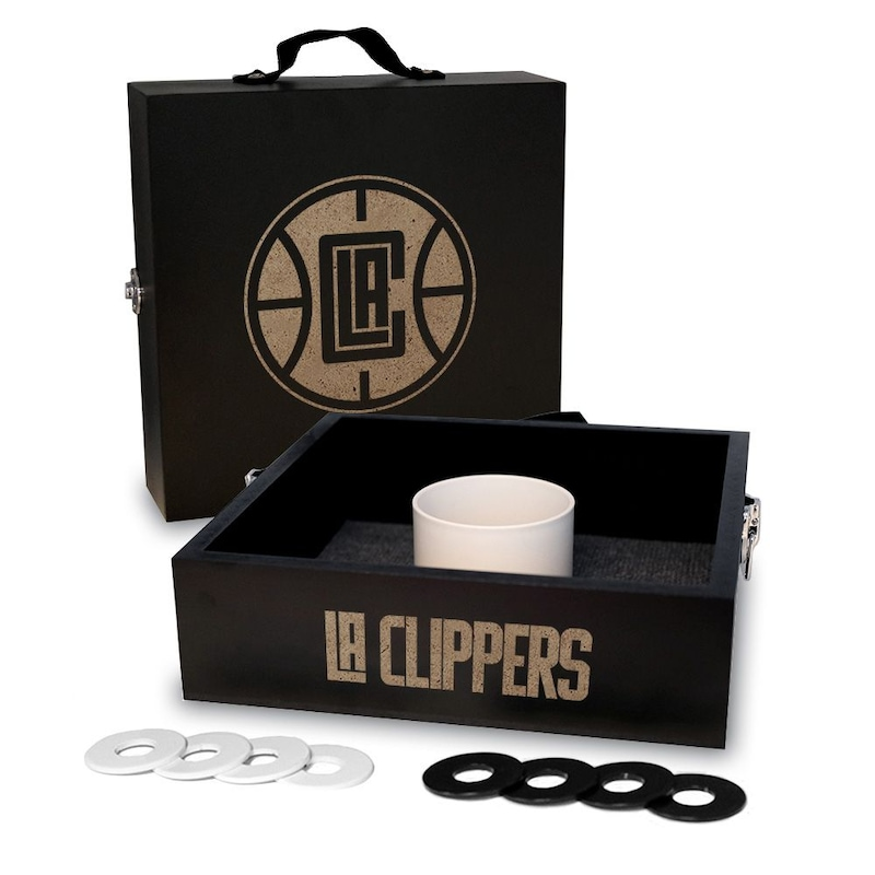 LA Clippers Onyx Stained Washer Toss Game Set