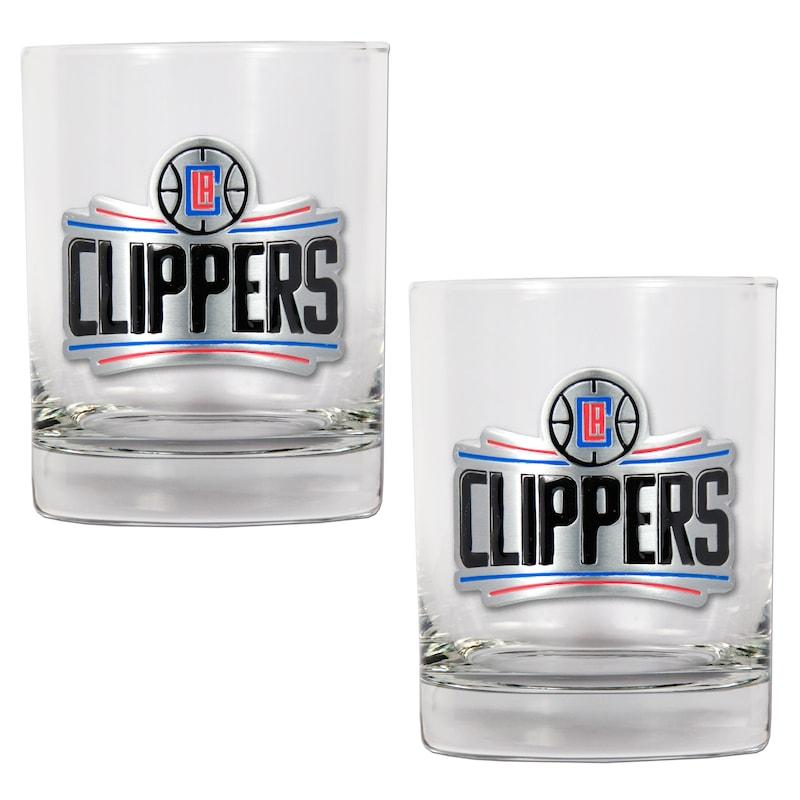 LA Clippers 14oz. Rocks Glass Set