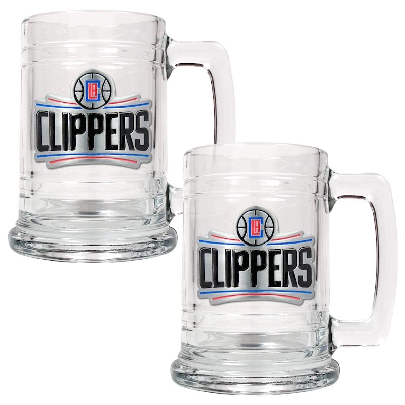 LA Clippers 2-Piece 15oz. Tankard Set