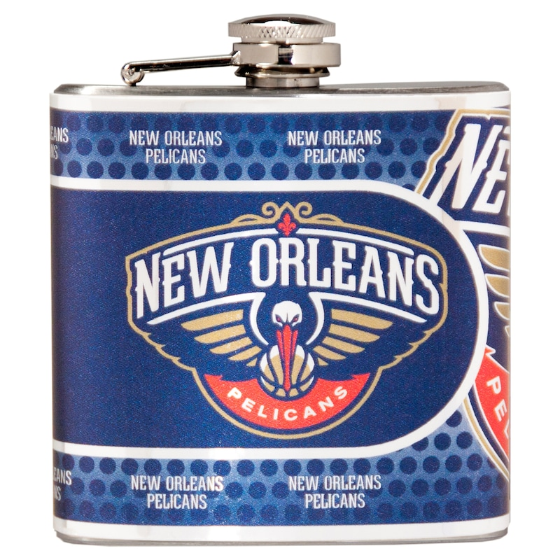 New Orleans Pelicans 6oz. Stainless Steel Hip Flask - Silver