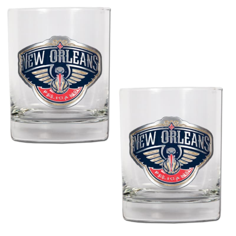 New Orleans Pelicans 14oz. Rocks Glass Set