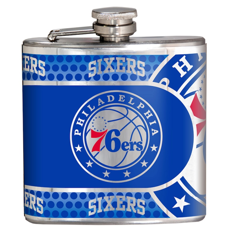 Philadelphia 76ers 6oz. Stainless Steel Hip Flask - Silver