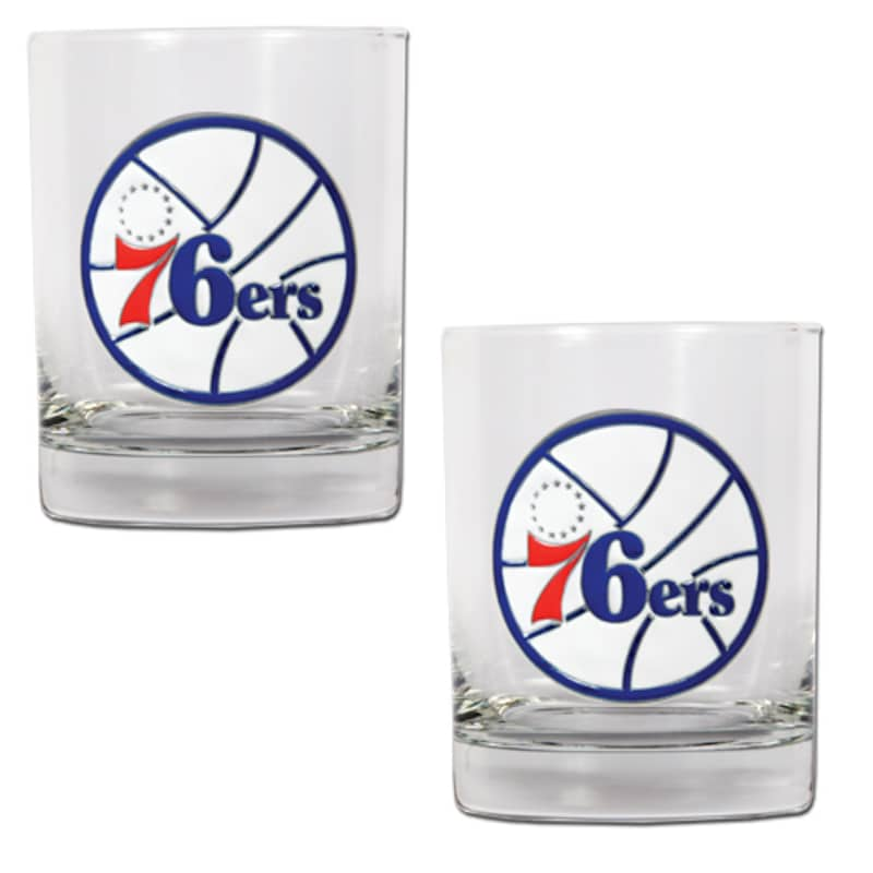 Philadelphia 76ers 14oz. Rocks Glass Set